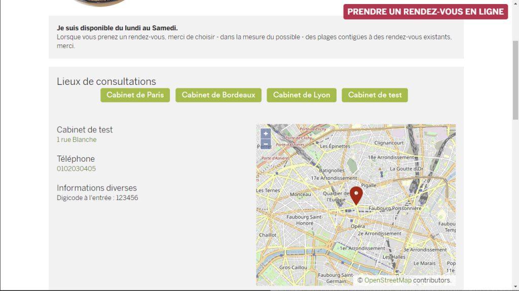 Mini site internet diététicien libéral intégré au logiciel pour nutritionniste